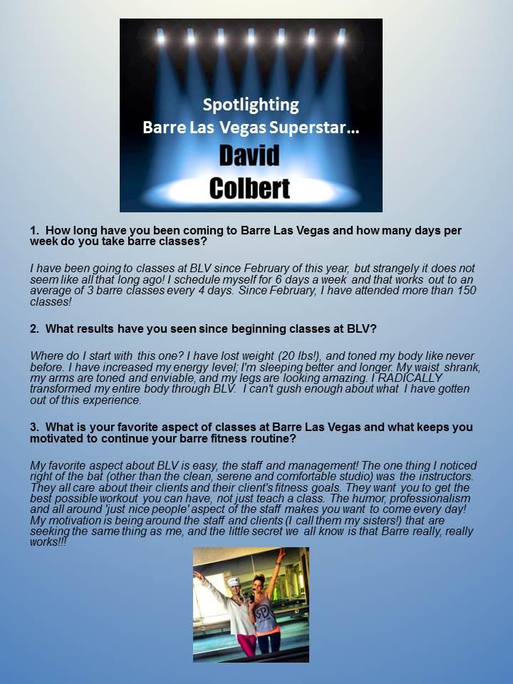 David Colbert  - BLV Spotlight Feature